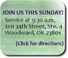 Service Time: 9:30 AM Sunday morning