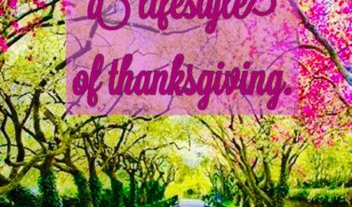 WORSHIP–A LIFESTYLE OF THANKSGIVING